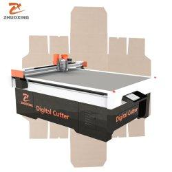 Honeycomb Golfkarton Cardboard Box Snijmachine Met V Cuting Creasing Tool En Oscillerend Mes Snijgereedschap