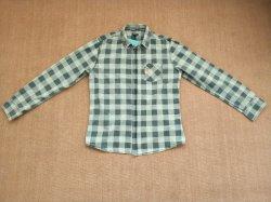 Camice tessute manicotto lungo tinte filato quadrato di 100%Cotton degli uomini