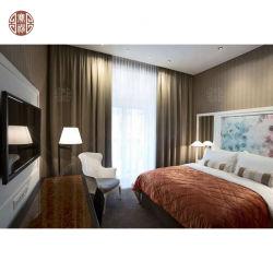 Modernes lamellenförmig angeordnetes Hotel-Schlafzimmer-Möbel-wahlweise freigestelltes Größen-Furnierholz MDF-niedriges Holz