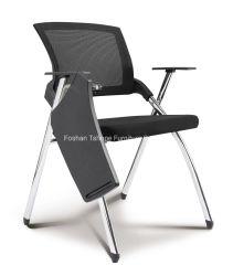 Mobilier en plastique populaire Visiteur de pliage en acier de l'école Bureau des conférences de formation en métal chaise avec pavé d'écriture