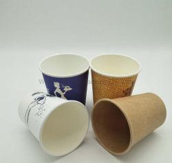 Papier jetable tasse de café chaud l'eau chaude des boissons à paroi simple ondulation de la Coupe du mur