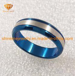 Таким образом орган украшения 6мм 316L кольцо из нержавеющей стали с покрытием синего цвета для мужчин и женщин SSR1980