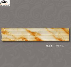 대리석 무늬를 넣는 PU 처마 장식 주조 장식 천장 조형 폴리우레탄 처마 장식 크라운