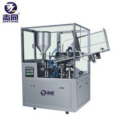 De 10-100 ml de Ultrasonidos de alta velocidad de sellado automático Máquina de cortar el tubo contenedor de plástico cosmético con sellador de codificación de la fecha