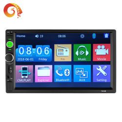 "Auto-radio 2 DIN 7"" con pantalla táctil HD Player MP5 SD/FM/MP4/USB/AUX/BT Car Audio el apoyo de la cámara de visión trasera"