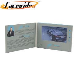 Commerce de gros bateaux de papier d'origine de la publicité Portable Mini lecteur écran LCD 7 pouces Brochure vidéo personnels Module carte numérique