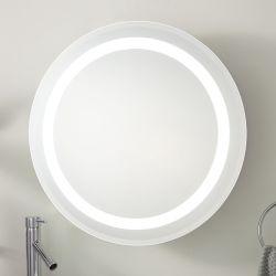 Круглой ванной комнатой с задней подсветкой LED с подсветкой зеркала заднего вида с помощью сенсорного датчика