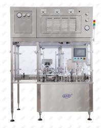 E o bujão de enchimento de líquido de inserção e máquina de nivelamento