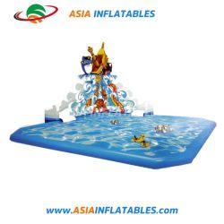 Sea Monster Style sol gonflable parc aquatique avec piscine de la diapositive