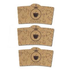 Custom imprimé Eco-Friend jetables gobelets en papier double paroi les manchons de gros de café