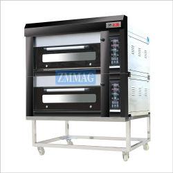 China-Energieeinsparung 2 Plattformen 4 Tellersegment-industrielle Küche-Geräte, die Ofen für das Brot und Kuchen verwendet im Hotel u. in der Gaststätte (ZMC-204M, glühen)