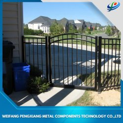 Revêtement poudré noir en aluminium/acier galvanisé/jardin/Fer forgé/coulissant/Clôture Barrière pour le résidentiel utilisé