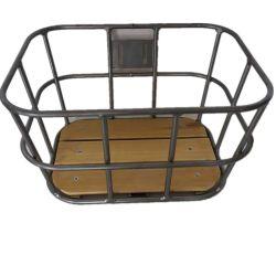 Liga Alumiunm dianteira da cesta de bicicletas com madeira