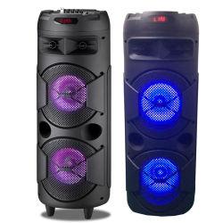 De draagbare Mobiele Spreker van de Batterij 8inch van de Staaf Dubbele met LEIDEN Licht