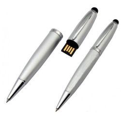 Logotipo personalizado personalizado Pen Drive Flash USB de 8 GB de bola de metal Caneta multifunções USB Memory Stick