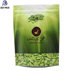 Biodegradierbarer wasserdichter Reißverschluss-leerer Teebeutel-Fastfood- Beutel-Blatt Matcha grüner Tee-Puder-Aluminiumfolie-Beutel