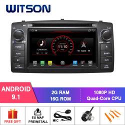 De vierling-Kern van Witson Androïde GPS van de 9.1 Auto DVD voor Module WiFi van de Bloemkroon van Byd F3/Toyota de Ingebouwde E120