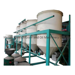Pianta grezza dell'oleificio della pianta di raffineria dell'olio da tavola dell'impianto di lavorazione dell'olio di girasole della soia del cereale mini