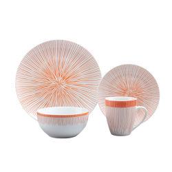 卸し売り16PCS台所テーブルウェア一定の良い磁器の食事用食器セットの陶磁器のディナー・ウェアセット