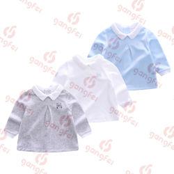 Colar de lapela de veludo macio de algodão Camisa Superior