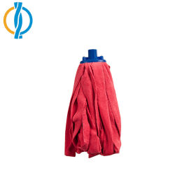 Filato riciclato fornitori rigenerato rosso grezzo del filato del Mop per i Mops