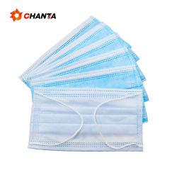 Wholesales fornecimento fábrica transporte rápido 3 Plys Face Protetora Masksdisposable