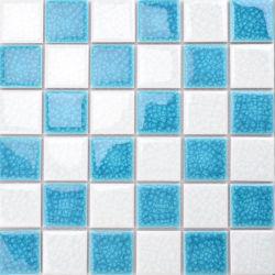 فسيفساء خزفية باللون الأبيض المختلط من الكراك الأزرق من أجل تجانب بركة السباحة