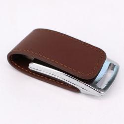 Кожаный чехол для изготовителей оборудования флэш-памяти USB 2.0/3.0 8ГБ 16ГБ 32ГБ с USB Memory Stick™