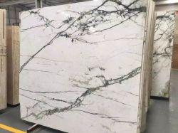 La Chine de calcaire blanc naturel mosaïque de marbre poli Granite sol en pierre Salle de bains tuiles mur