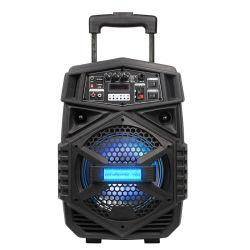 Temeisheng portátil recargable de 8 pulgadas alimentado Carrito altavoz con colores luz te8-7L orador