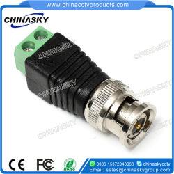 Plug BNC macho com terminal de parafuso para sistema de CCTV (TC120)