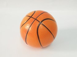 Palla in PU anti-stress da 6,3 cm stile basket