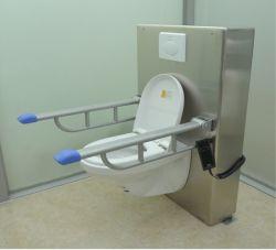 Qualitäts-Edelstahl verwendet in der Hauptklinik oder in Krankenhaus eingestelltem Höhe gealtertem Sorgfalt-Hilfsmittel-Toiletten-Höhenruder mit Armlehne