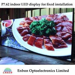 Cores interior P7.62 Display LED para publicidade