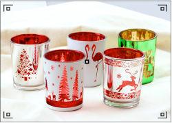 عيد ميلاد المسيح زجاجيّة شاك مرطبان [كندل هولدر] زجاجيّة