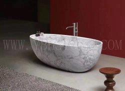 Lado entalhado pia vaso autoportante/Pedestal de granito Chuveiro/banheira em pedra mármore de banho de banheira escura