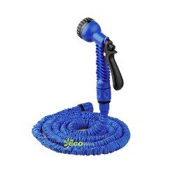 50FT expansão azul água macia plástico flexível Acoplamento Rápido Capota mangueira de jardim com função de 8 pistola de água