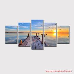 5 Panels Landschaft Leinwanddrucke Gruppe Ölgemälde