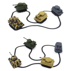 Veicolo di rilevamento automatico 777-006 di ingegneria del serbatoio dei giocattoli dei mini bambini del modello elettrico dell'automobile