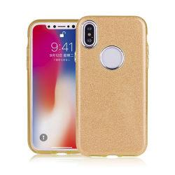 3-в-1 для ПК ИЗ ТЕРМОПЛАСТИЧНОГО ПОЛИУРЕТАНА Блестящие цветные лаки Flash порошок бумаги прозрачный цвет градиента телефон чехол для iPhone X
