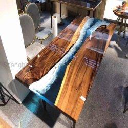 Koffietafel van de Eettafel van de Lijst van de Thee van de Bovenkant van de Lijst van de hars de Epoxy Hoge Glanzende