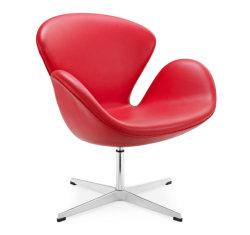 Arne Jacobsen Swan Chair in Leer (a037-B)