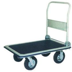 2.50-4 인치 고무 압축 공기를 넣은 바퀴를 가진 300kg 적재 능력 Foldable 플래트홈 Handtruck