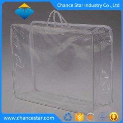 Corde personnalisé de la poignée en PVC sac en plastique pour l'emballage de Quilt Zip