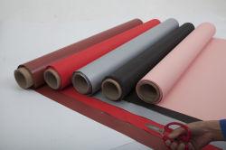 Dos caras de fibra de vidrio recubierto de silicona de color gris techos resistentes al agua un paño de tela