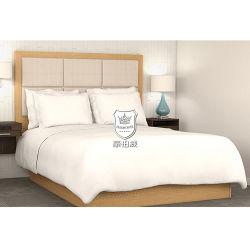 Slaapkamer Koningin Hotel Bed met de Houten Vlakke Basis van het Frame van het Bed