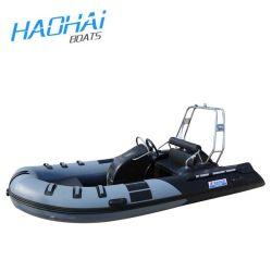 2020 Nuevo bote de fibra de vidrio del tubo de Orca bote hinchable costilla militar 390 modelo con motor fueraborda