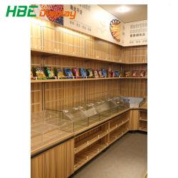 مخزن السوبر ماركت عرض المعادن الخشب الجاف الأغذية عربات الحبوب عرض رف حامل الجندول وحدات