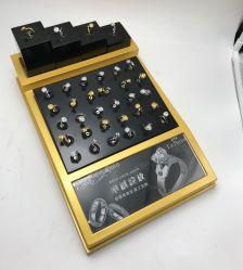 Anel de diamantes personalizados Exibir Caixa de madeira