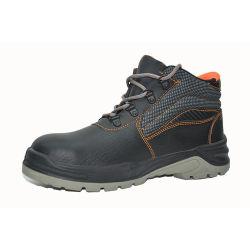 Placa Anti-Puncture Aço Moda unissexo PU/PU botas de segurança de couro Calçado de tampa de fecho de aço homens Calçado de trabalho Water-Resistant respirável Calçado de segurança